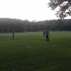 Our first meeting was fun and games in a park