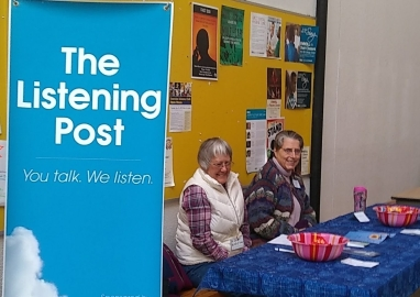 Two Listening Post volunteers