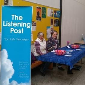 Two Listening Post volunteers