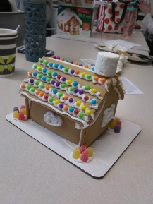our annual gingerbread house making party
